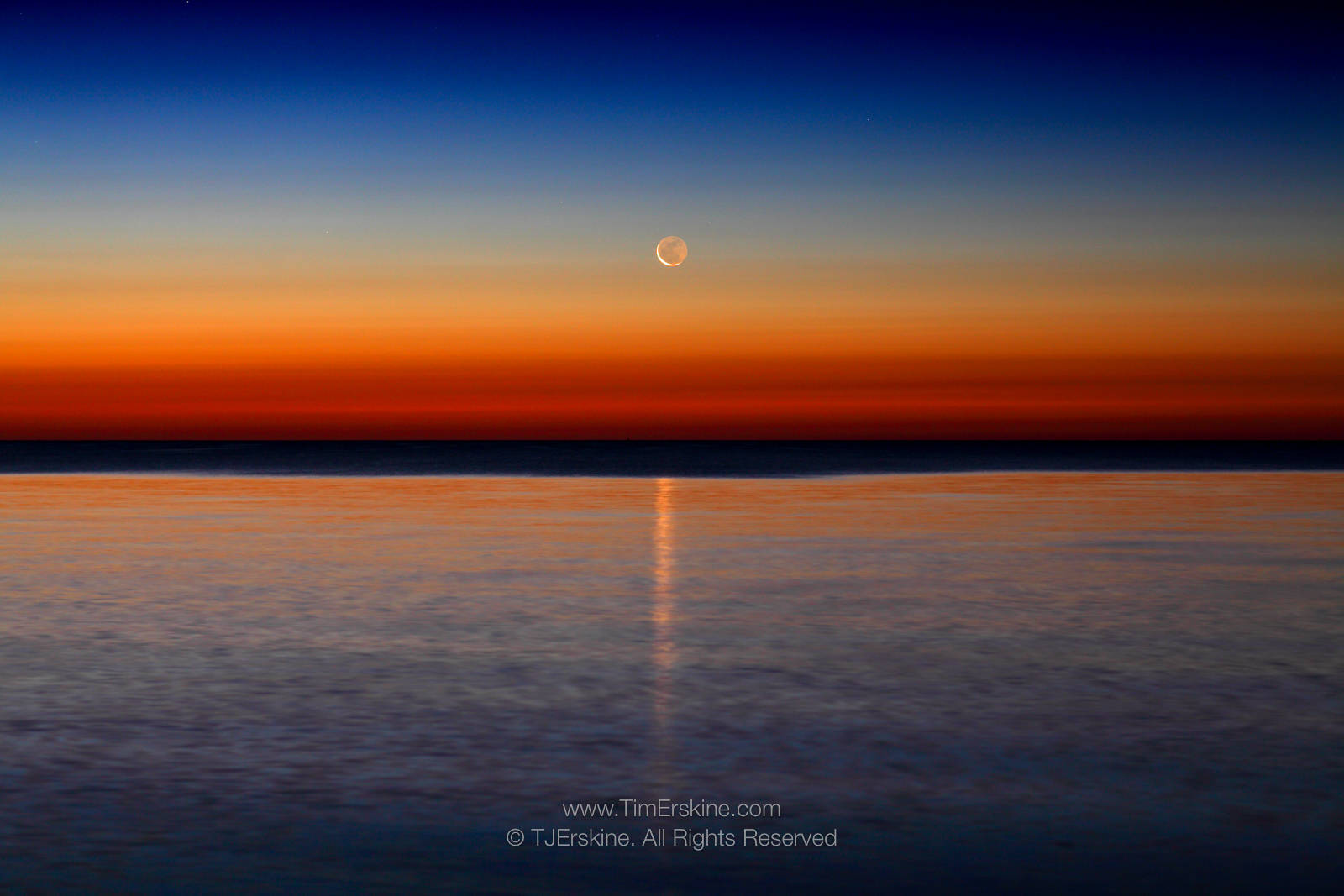 Baileys Harbor Dawn Moonrise